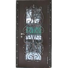 Дверь стальная порошковая покраска  с элементами Ковки