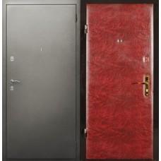 """Дверь стальная обычная покраска + """"ЭКОкожа"""""""