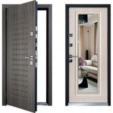 Дверь стальная + МДФ с зеркалом